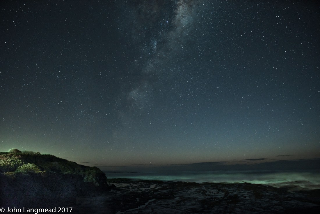 Shooting stars over the Southern Ocean on 11 July 2017 – South