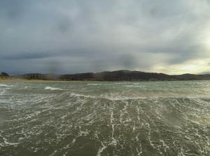 Apollo Bay swim in strong wind