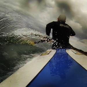 Surf ski paddling at Apollo Bay