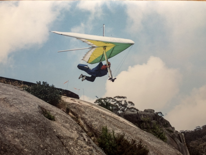 Hang glider taking off from Mt Buffalo