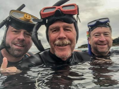 Snorkellers at Little Henty Reef, Marengo