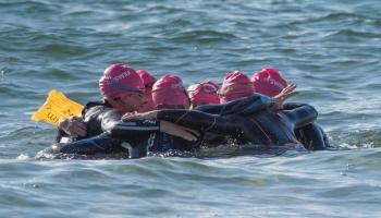 Apollo Bay women swim the Rip