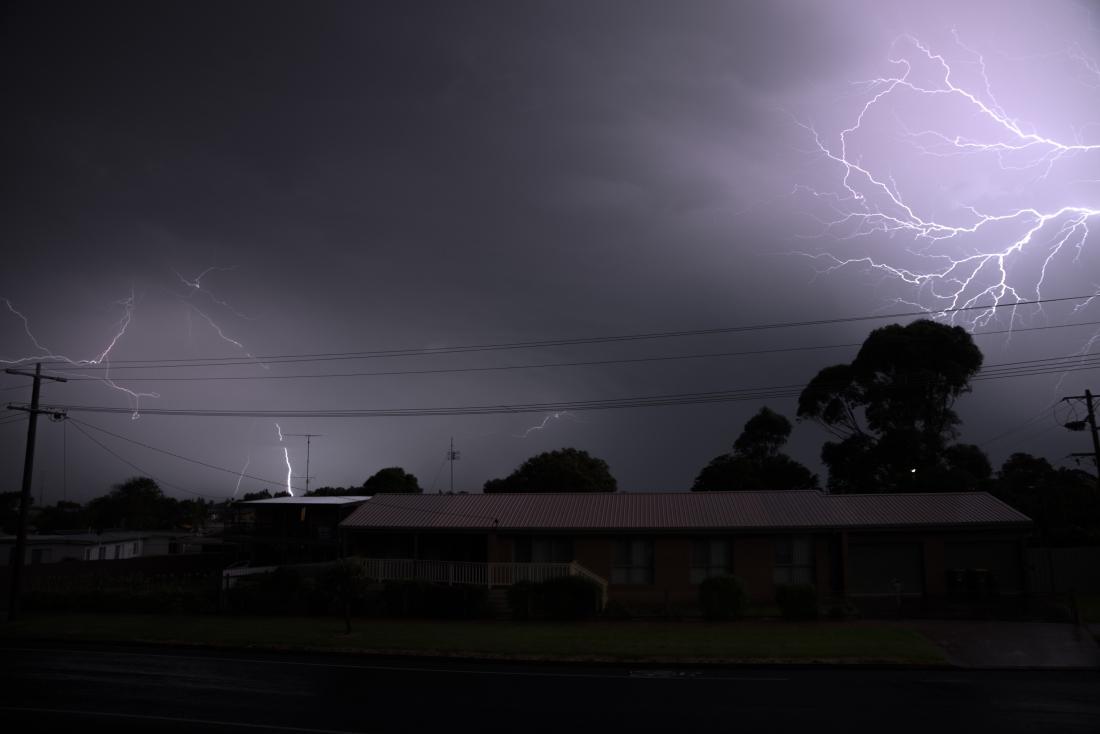 Night lightning strikes