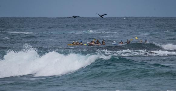 Kayaks at Little Henty Reef Marengo