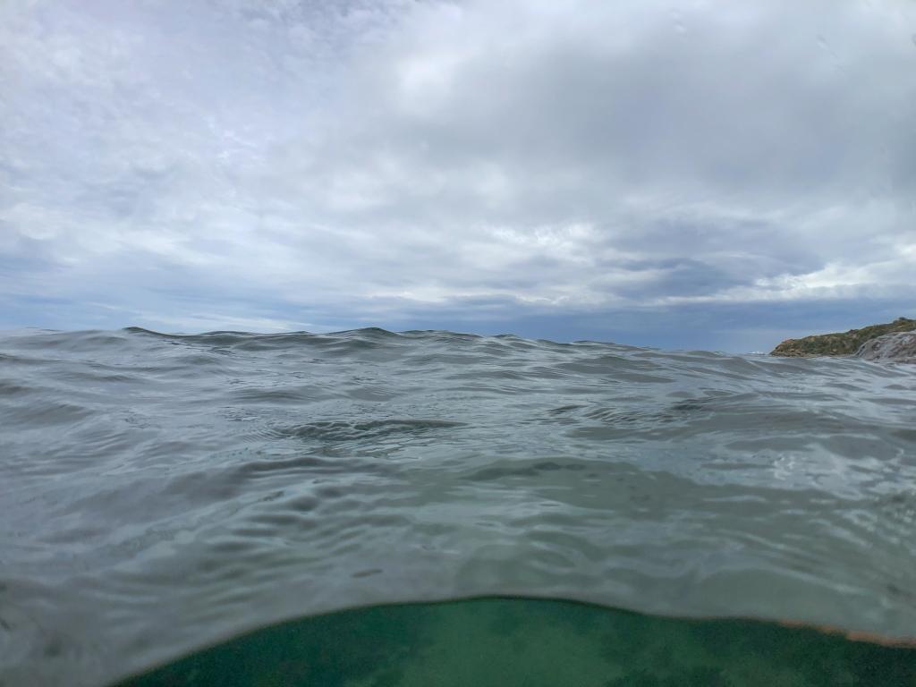 Sea surface at eye level