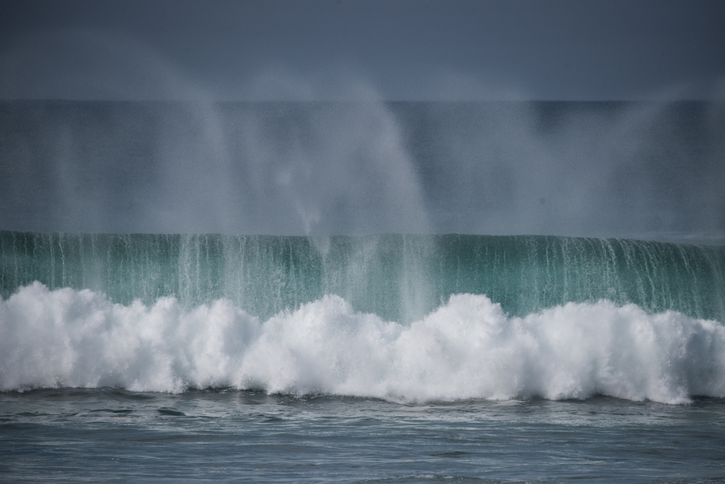 Autumn swell at Hayley Point