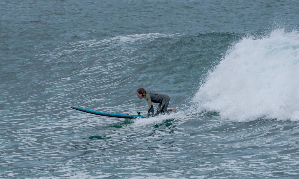 Beginner surfer at Apollo Bay