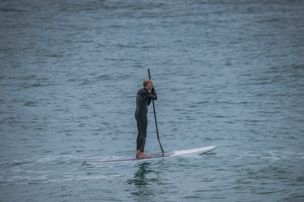 Stand up paddler at Apollo Bay