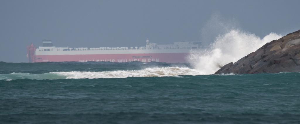 Ship in Bass Strait passing Apollo Bay