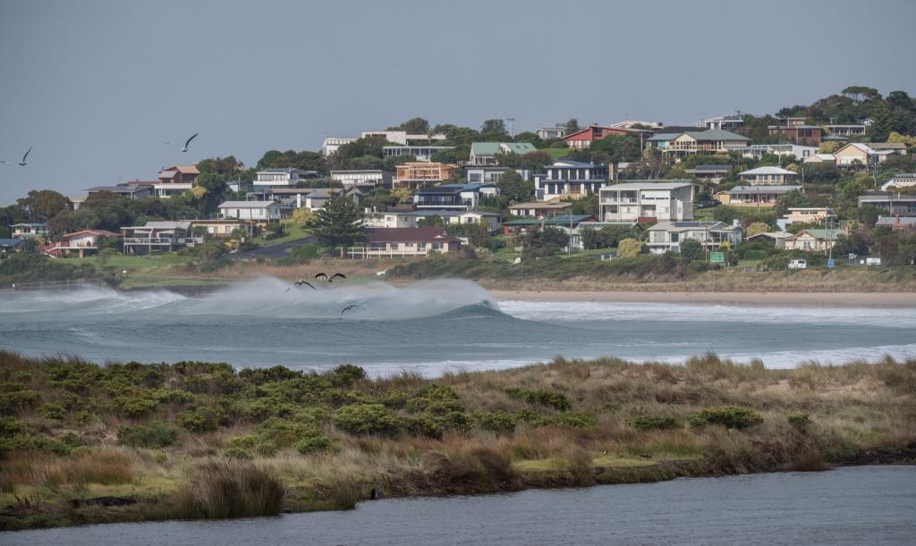 Big surf rolling across Mounts Bay Marengo