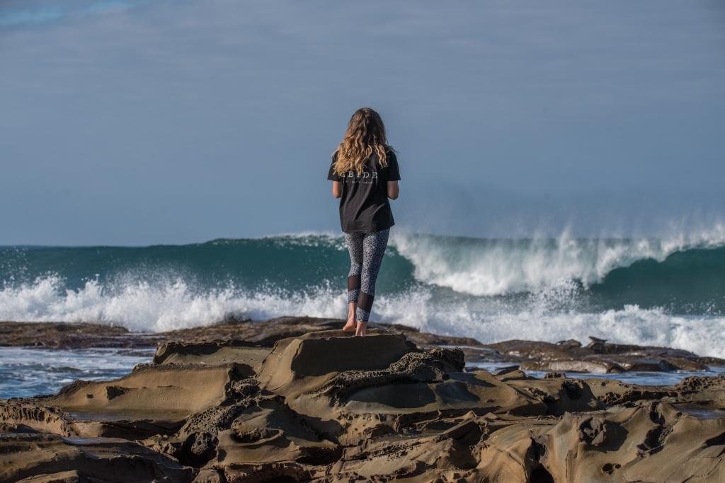Surf spectator at Hayley Point