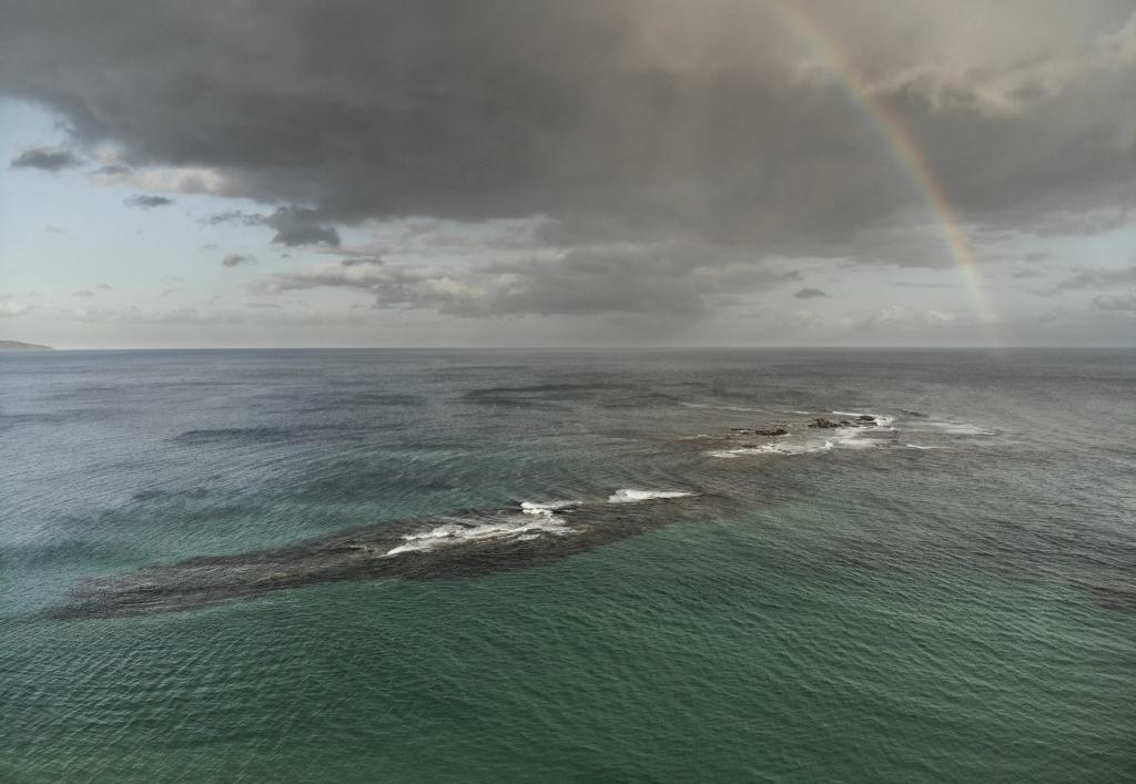 Drone shot of Little Henty Reef