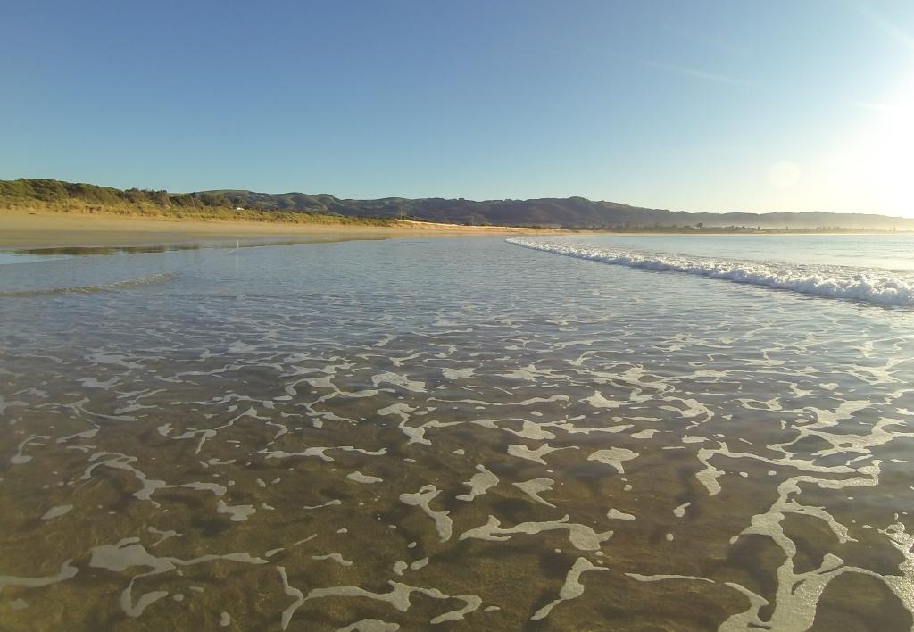 Marengo beach Mounts Bay at dawn
