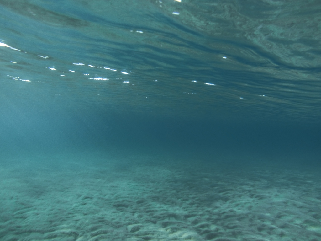 Seabed and clear water