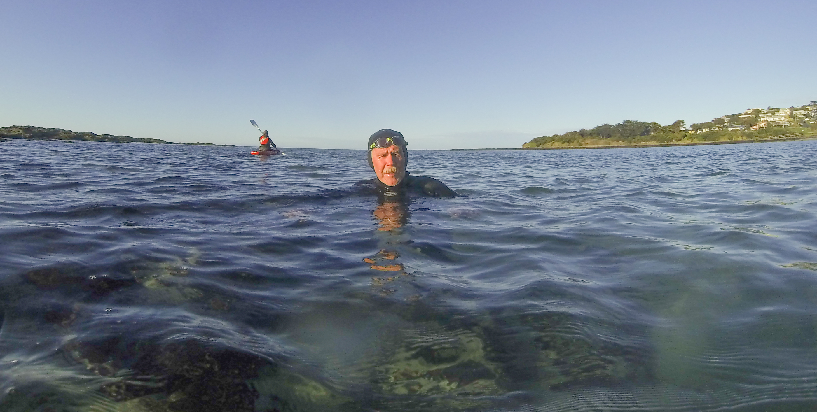 Ocean swimmers at reef at Marengo