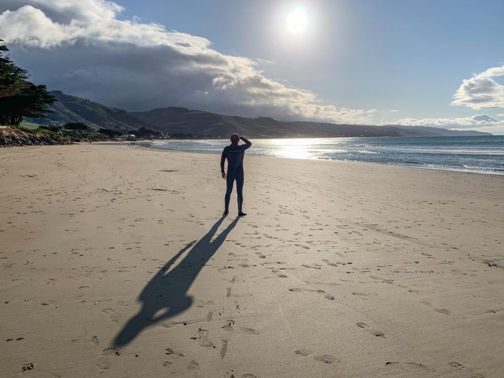Apollo Bay main beach. Day 100 of swims