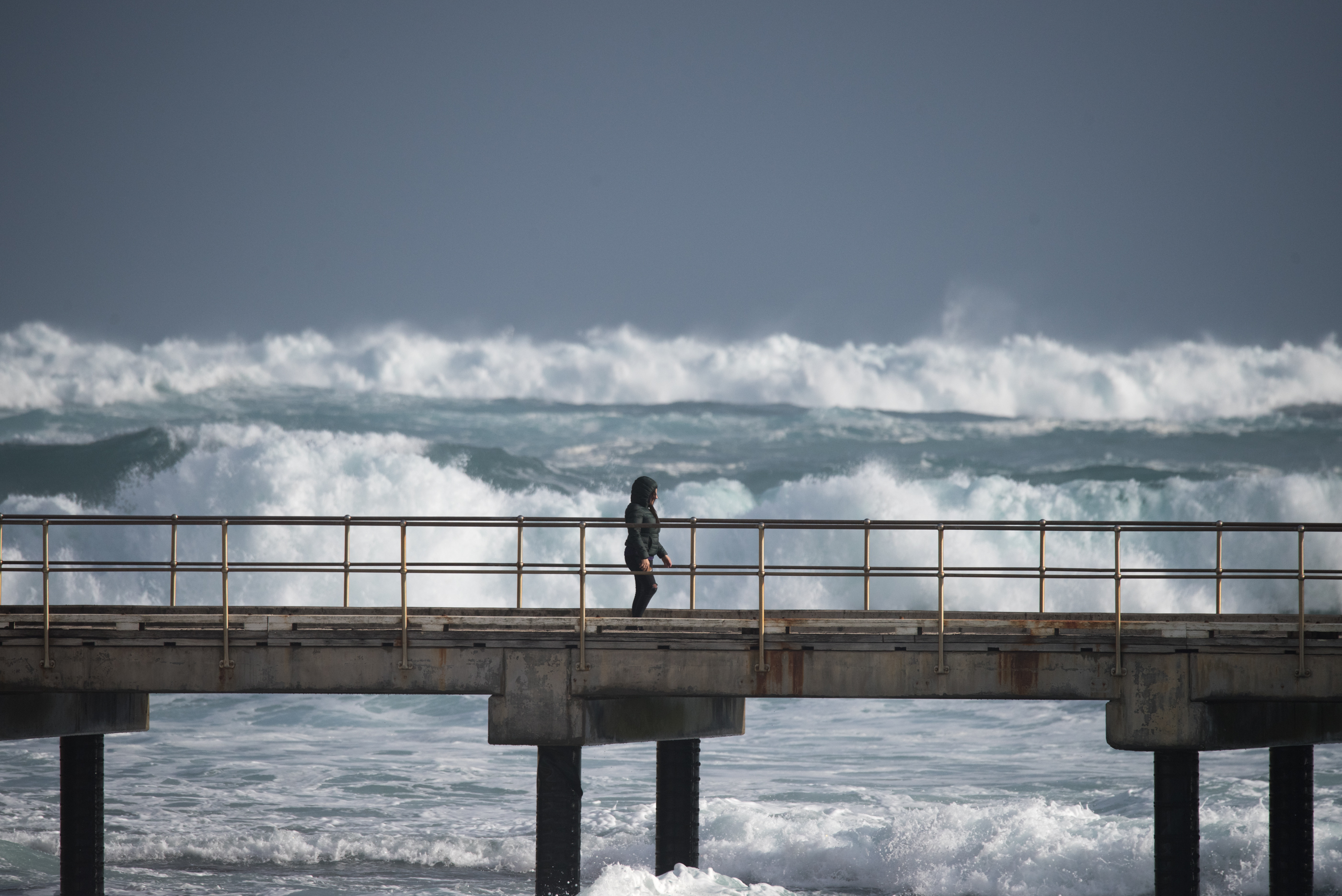 Storm surf at Port Campbell jetty
