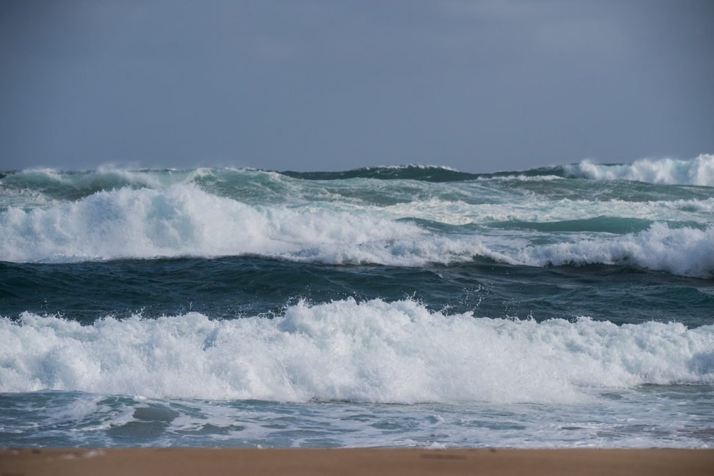 Ocean at Aire River mouth