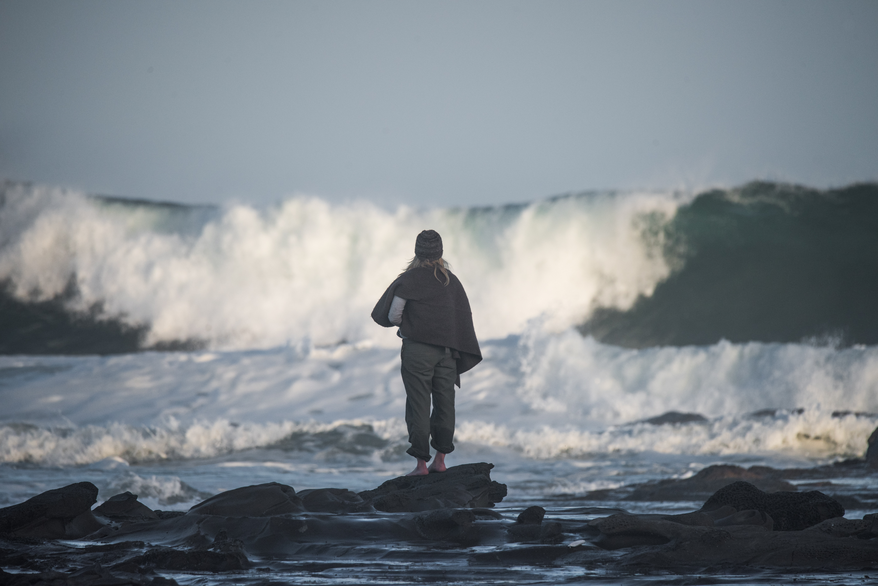 Surf photographer and big waves