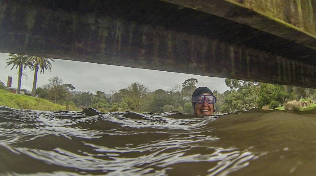 Swimming in Barham River Apollo Bay