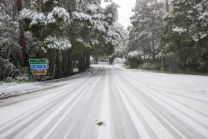 Snow in the Otway Ranges
