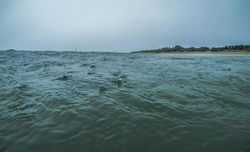 GoPro in surf in rain