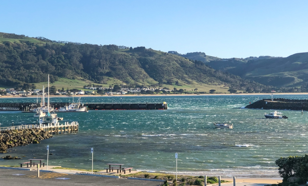 Gale force winds in the harbour at Apollo Bay