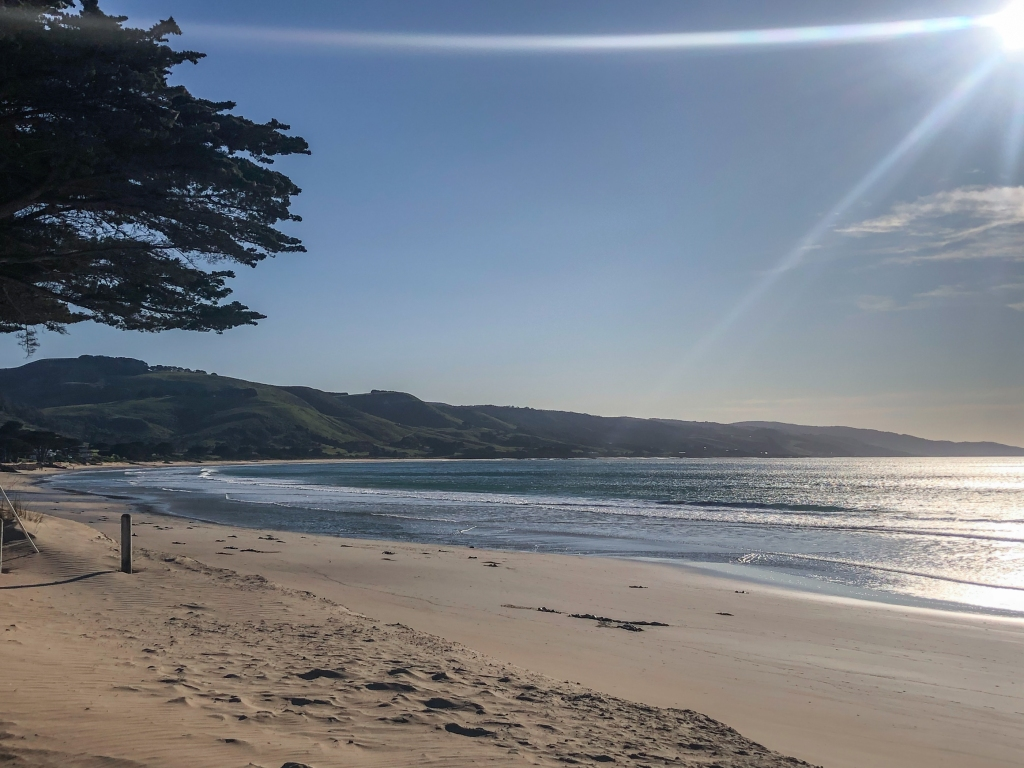 Peaceful ocean after the gale at Apollo Bay