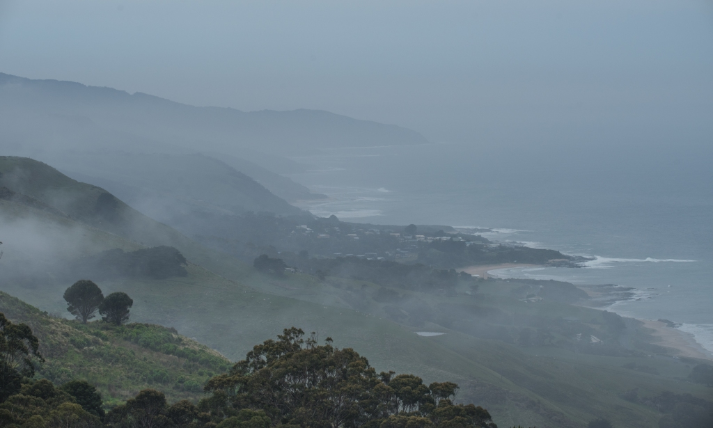 Misty view from Marriners Lookout Apollo Bay