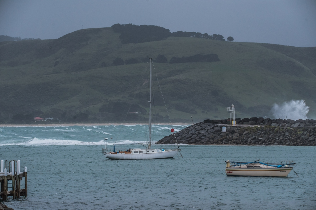Calm harbour in easterly seas