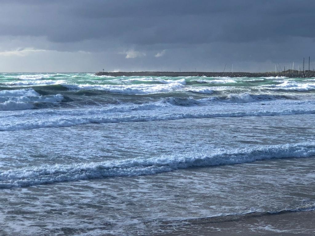 Sunshine on rough easterly seas