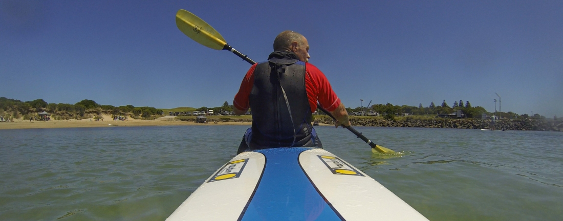 Surf ski paddling Apollo Bay
