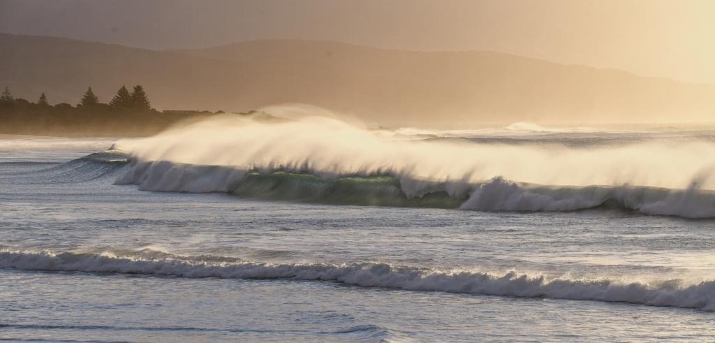 Ocean surf at sunrise at Marengo