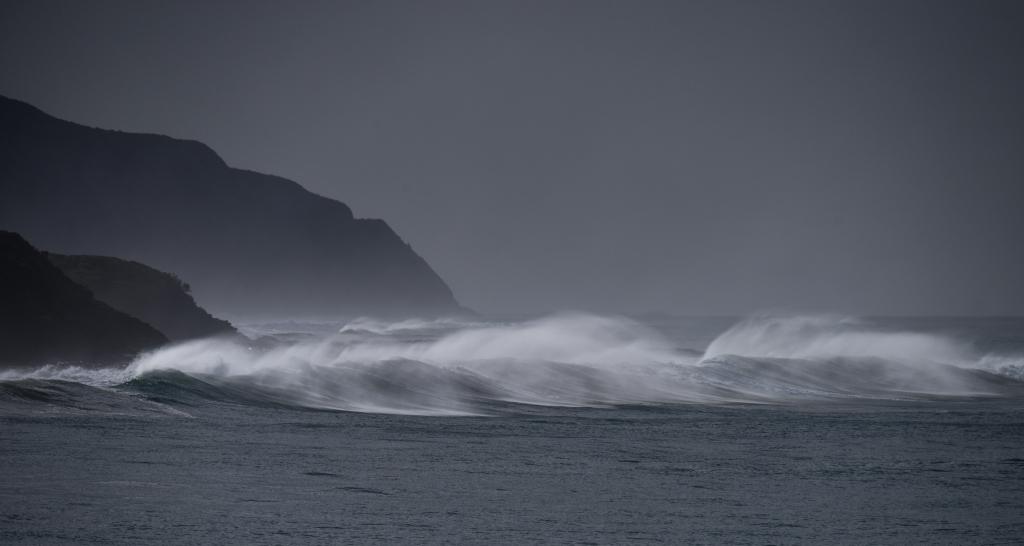 Cape Patton, winter surf breaking on coastal reefs