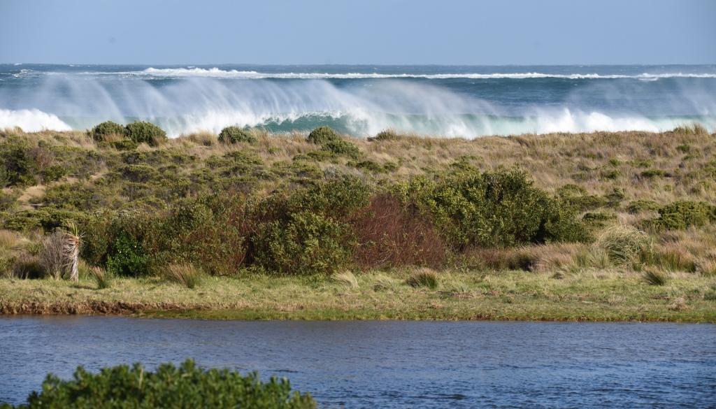 Waves breaking in Mounts Bay Marengo