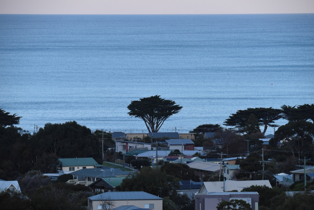 Full moon rising over Apollo Bay and Bass Strait