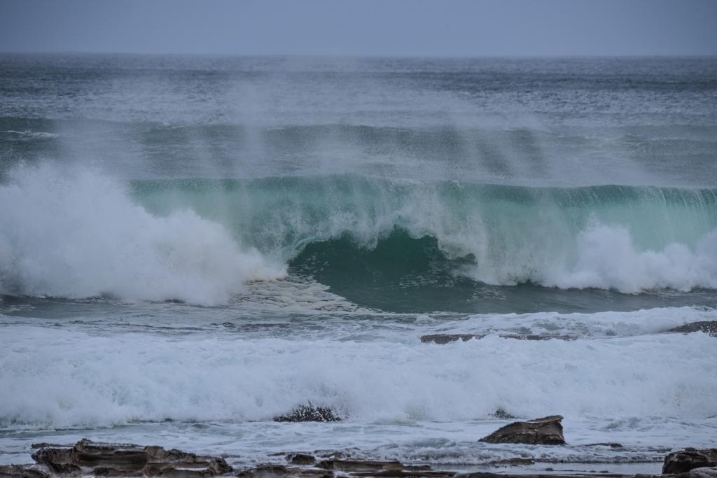Shore break at Hayley Point