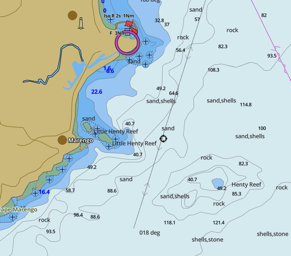 Nautical chart extract