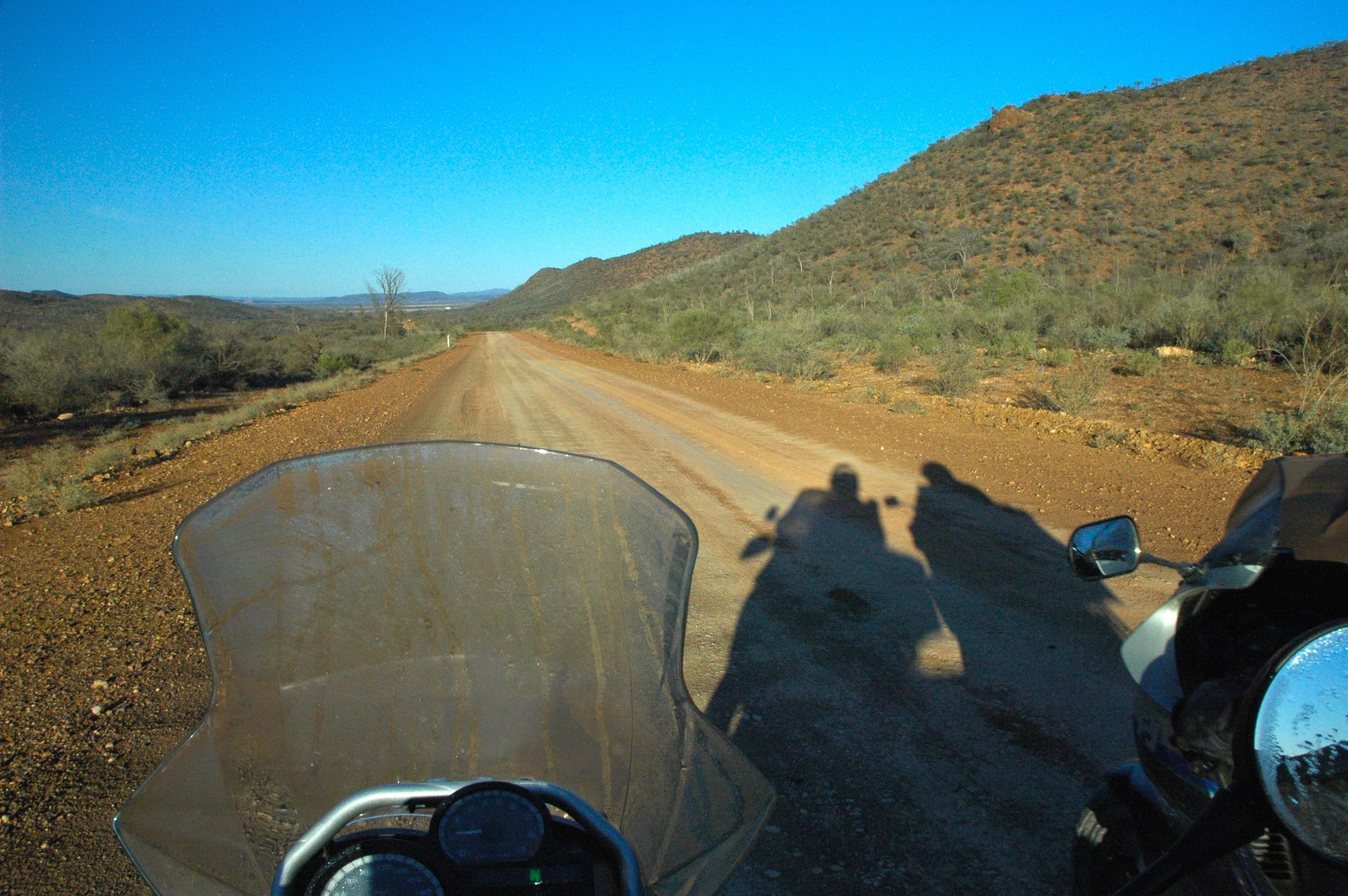 Motorbikes on dirt road near Arkaroola in the Flinders Ranges