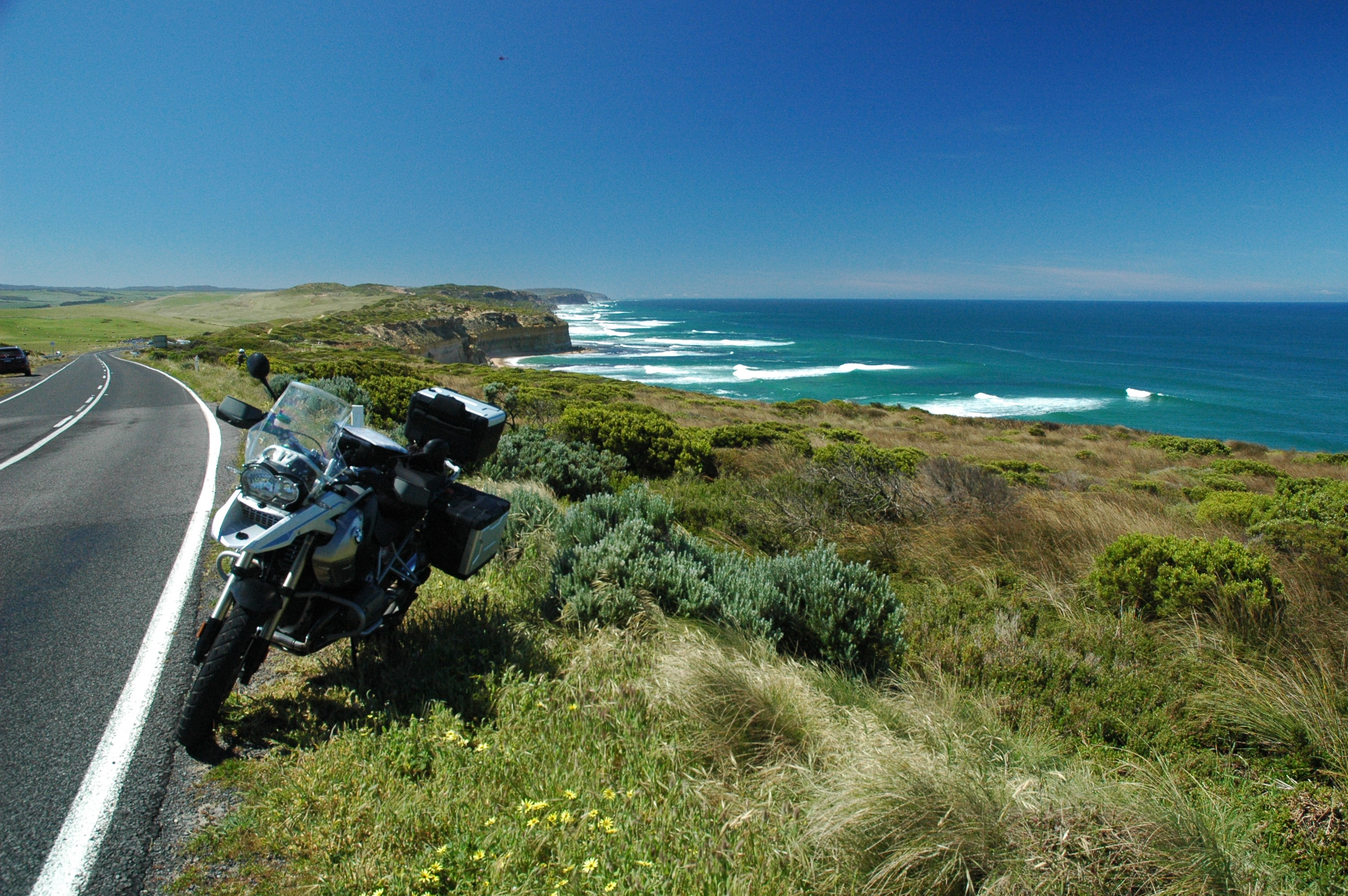 BMW R1200GS on the Great Ocean Road near Port Campbell